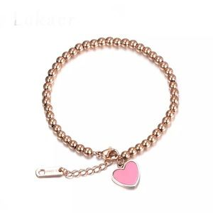 Jewelry - Stainless Steel Rose Gold plated Heart ❤️ bracelet